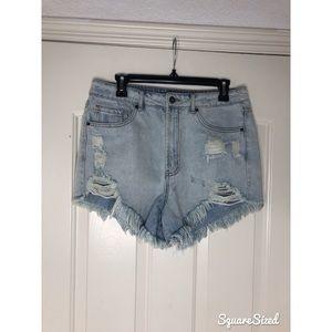 High waisted mom shorts